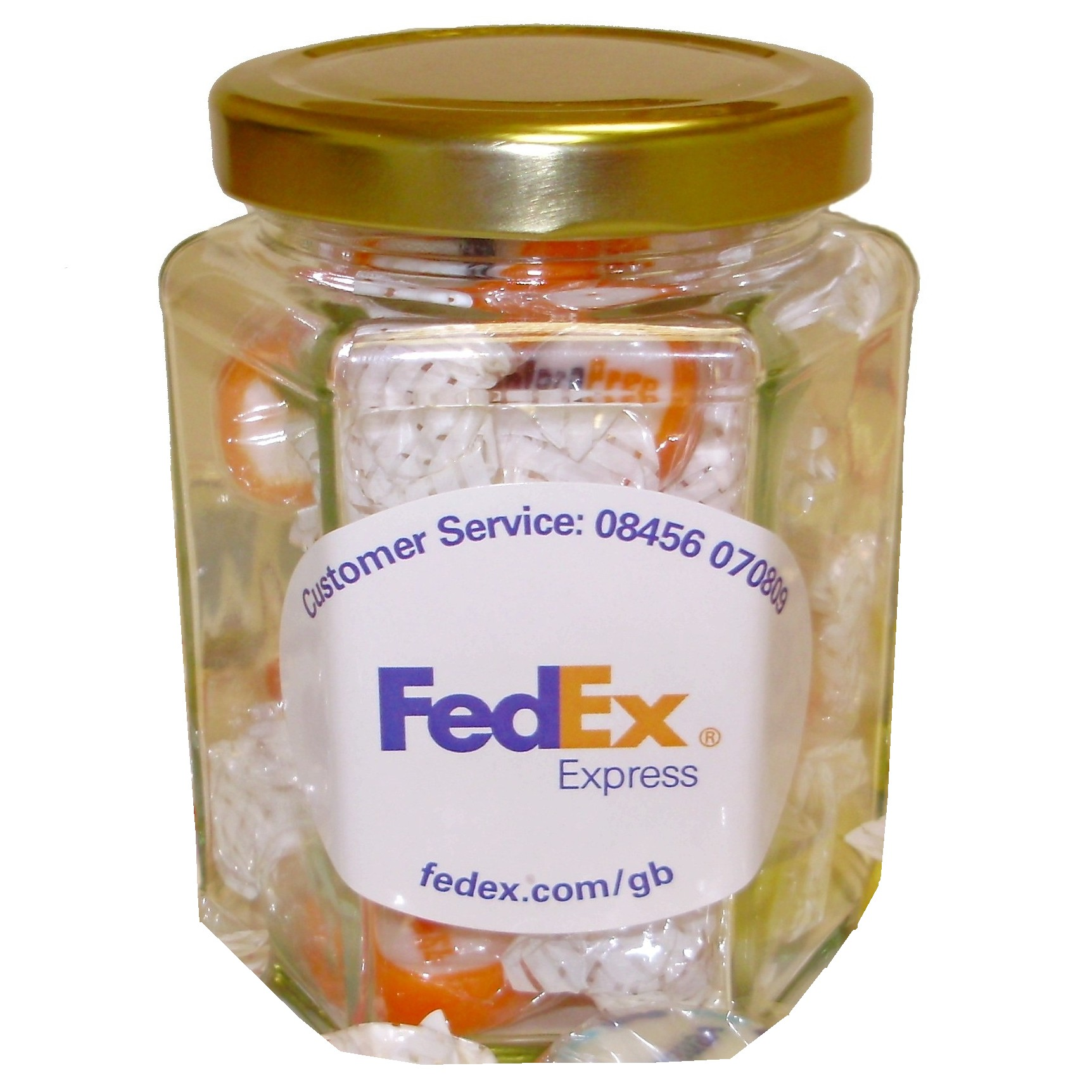 branded jars of sweets