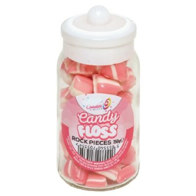Candy Floss jar rock sweets - the rock people