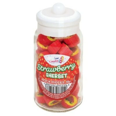 Strawberry Sherbet jar rock sweets - The Rock People